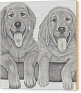 Puppy Love Wood Print by Patricia Hiltz