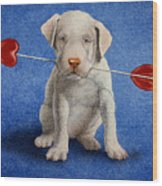 Puppy Lover... Wood Print