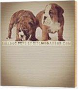 Pups Wood Print