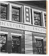 Purdue University Agricultural Engineering Wood Print