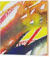 Pure Color Inspiration Abstract Painting Linea Forces Wood Print