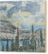 Pure North - Bow Lake Alberta Wood Print