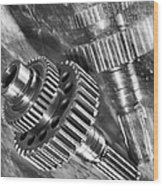 Pure Titanium Aerospace Gear Wood Print