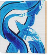 Pure Water 302 - Blue Abstract Art By Sharon Cummings Wood Print