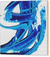 Pure Water 304 - Blue Abstract Art By Sharon Cummings Wood Print