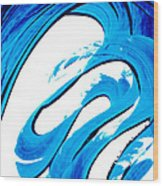 Pure Water 315 - Blue Abstract Art By Sharon Cummings Wood Print