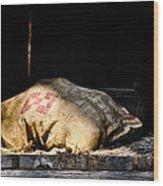 Purina Feed Sack In Loft Wood Print