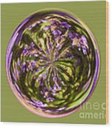 Purpble Wildflower Orb Wood Print