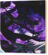 Purple Abstract Wood Print