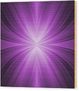 Purple Abstract Background Wood Print