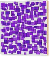 Purple Abstract Wood Print by Frank Tschakert
