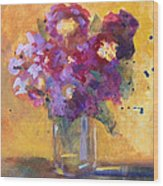 Purple Abstract Wood Print