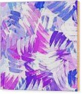 Purple Abstract Paint Pattern Wood Print