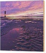 Purple After The Rain Wood Print