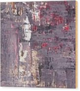 Vineyard - Purple And Beige Abstract Art Painting Wood Print