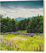 Purple And Mountains And Majesty Wood Print