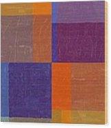 Purple And Orange Get Married Wood Print
