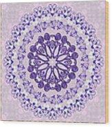 Purple And Pink Wood Print