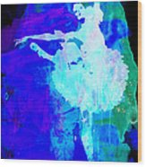 Purple Ballerina Watercolor Wood Print