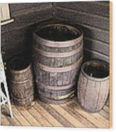 Purple Barrels Wood Print