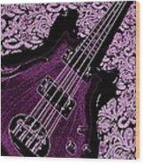 Purple Bass Wood Print