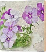Purple Beauties Wood Print