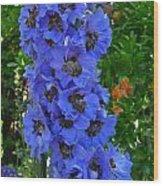 Purple Blue Wood Print
