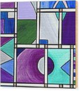 Purple -blue -green  Abstract 2 Wood Print