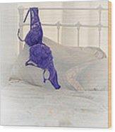 Purple Bra Wood Print