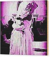 Purple Bride Wood Print
