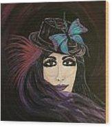 Purple Butterfly Wood Print