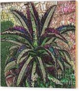 Purple Cactus II Wood Print