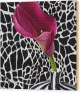 Purple Calla Lily Wood Print