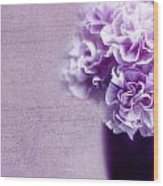 Purple Carnations Wood Print