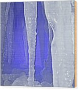 Purple Cave Wood Print