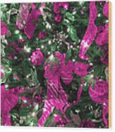 Purple Christmas Wood Print