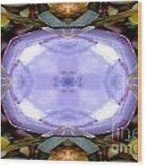 Purple Clam Shell Mandala Yantra Wood Print by Marie Jamieson