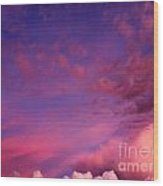 Purple Clouds Majesty Wood Print