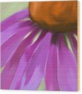 Purple Cone Wood Print