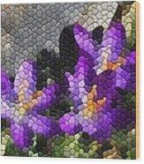 Purple Crocus Wood Print