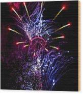 Purple Crown Wood Print