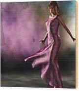 Purple Dancer Wood Print