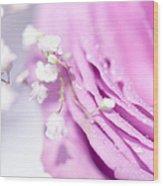 Purple Delight. Natural Watercolor Wood Print