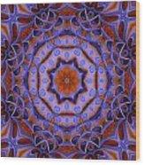 Purple Design 2 Wood Print