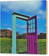 Purple Door - Alternate Reality - Canada Wood Print