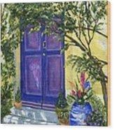 Purple Door Wood Print
