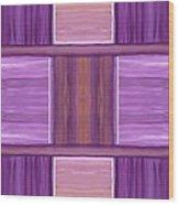 Purple Dreams Squares Wood Print