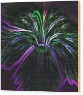 Purple Edges Wood Print