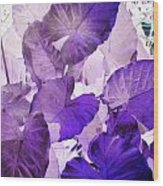 Purple Elephants Wood Print