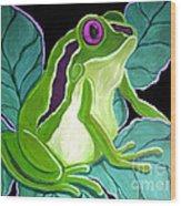 Purple Eyed Frog Wood Print